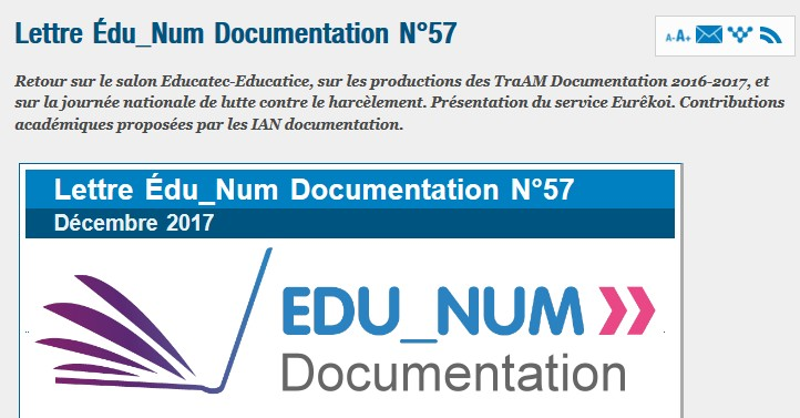 Lettre Édu_Num Documentation N°57